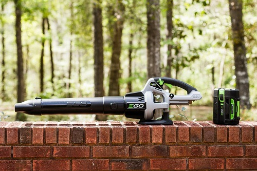 Ego Leaf Blower On Brick Wall
