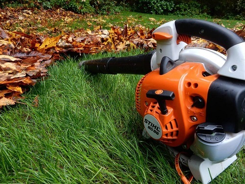 Leaf Blower On Grass